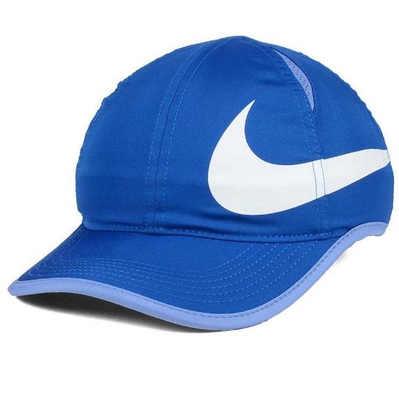 01e40519731 ❣️SALE❣️NWT Nike Girls Featherlight Swoosh Cap Hat